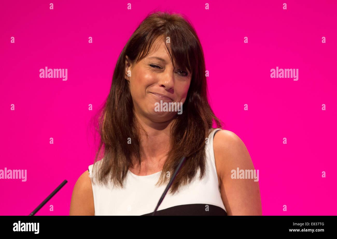 Gloria De Piero-Shadow ministre des femmes et de l'égalité MP pour Ashfield Photo Stock