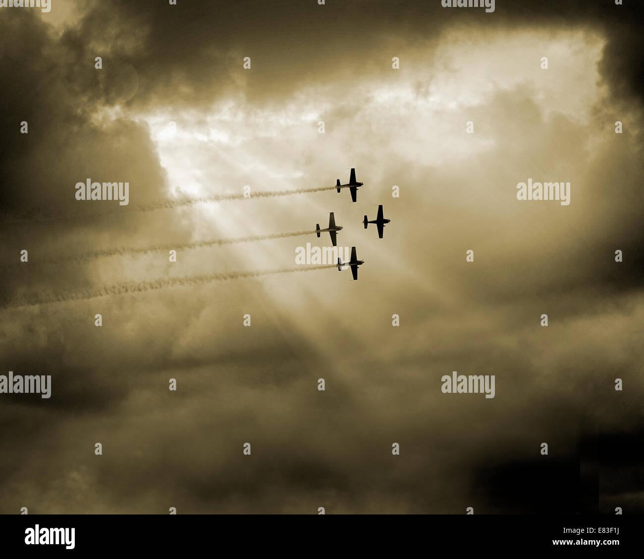 Go - DEVON: l'équipe de voltige des lames d'effectuer sur Torquay Photo Stock