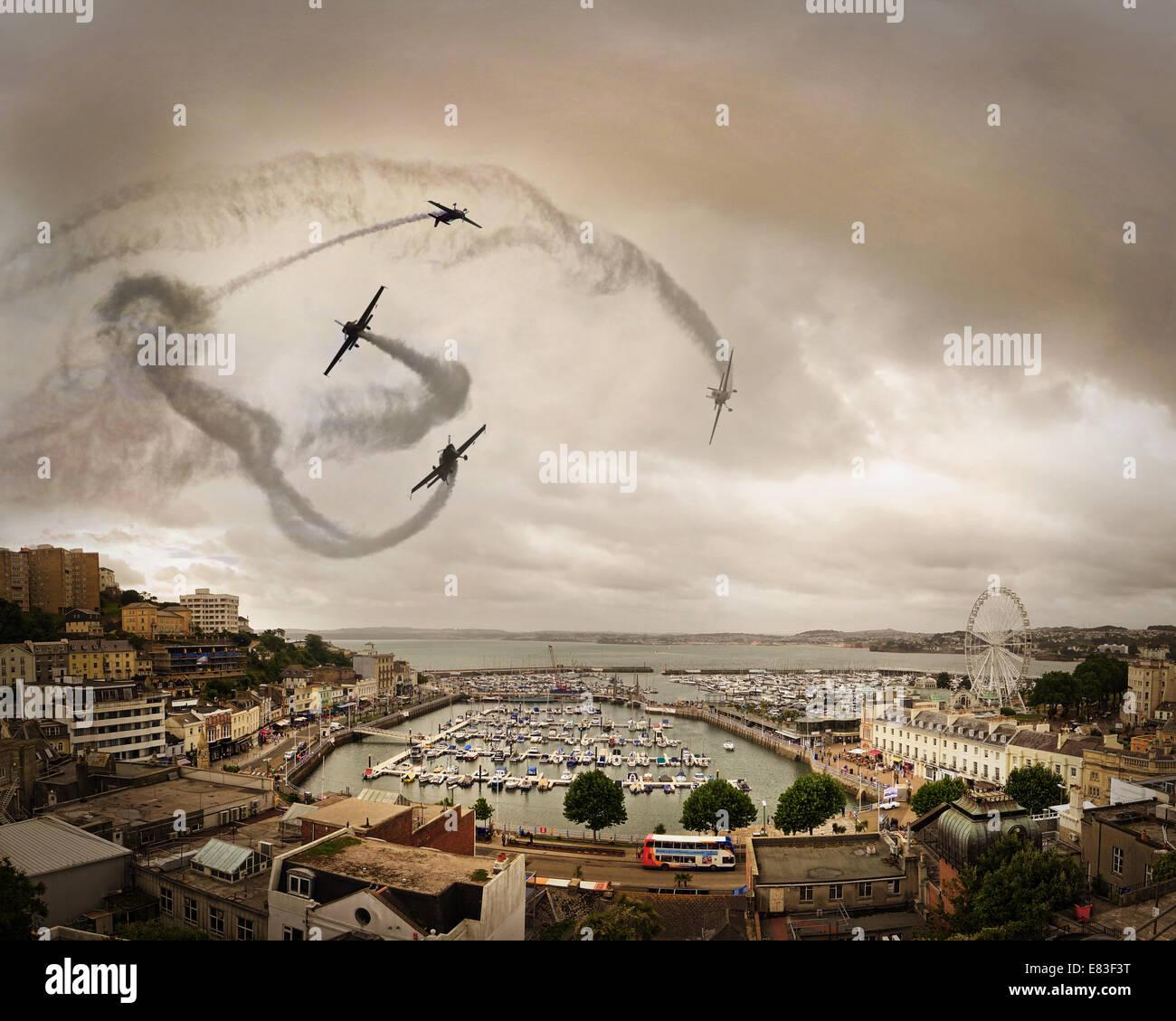 Go - DEVON: l'équipe de lames effectuant sur Torquay Photo Stock
