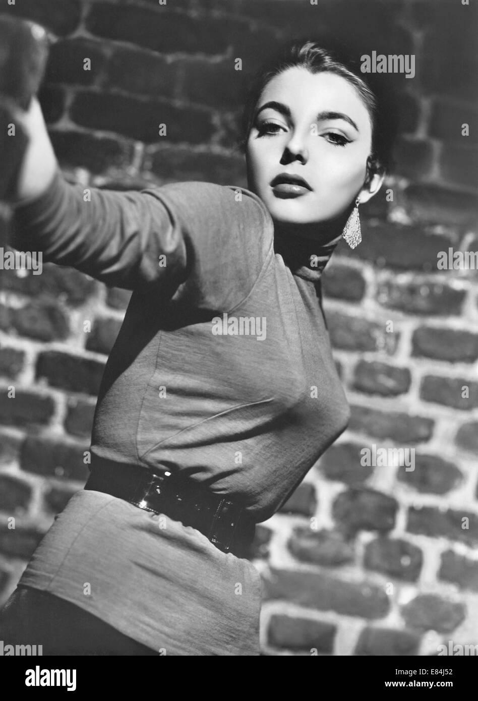 Tourner la clé doucement 1953 film GFD avec Joan Collins Photo Stock