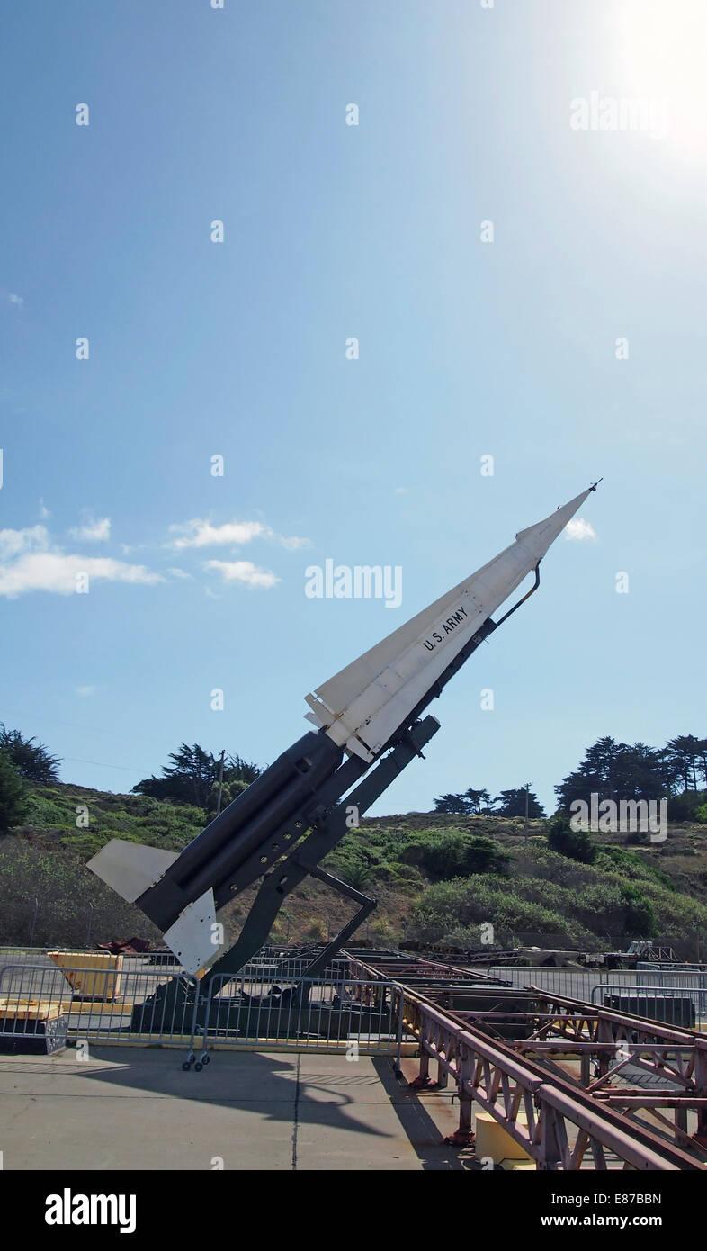 Missile Nike Hercules Marin Headlands, California, USA Photo Stock