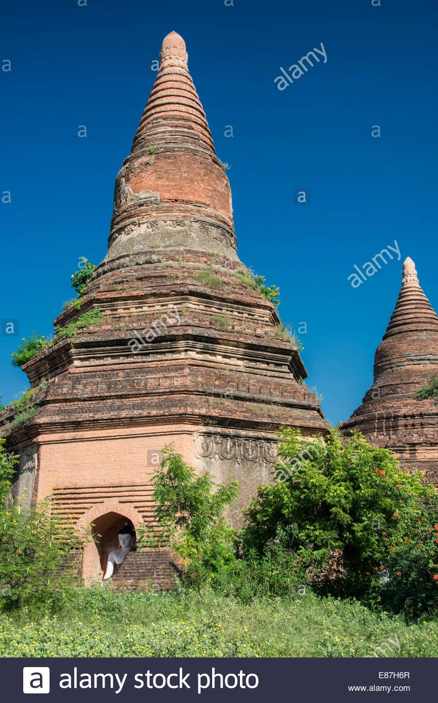 Anciens Temples de Bagan, Myanmar ( Birmanie ) Banque D'Images
