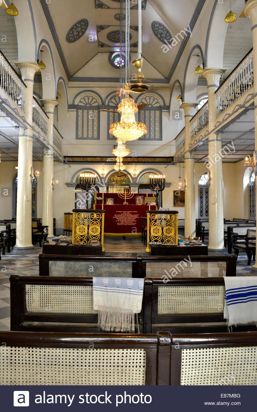 Musmeah Synagogue Yeshua, Yangon, Myanmar ( Rangoon, Birmanie ) Banque D'Images