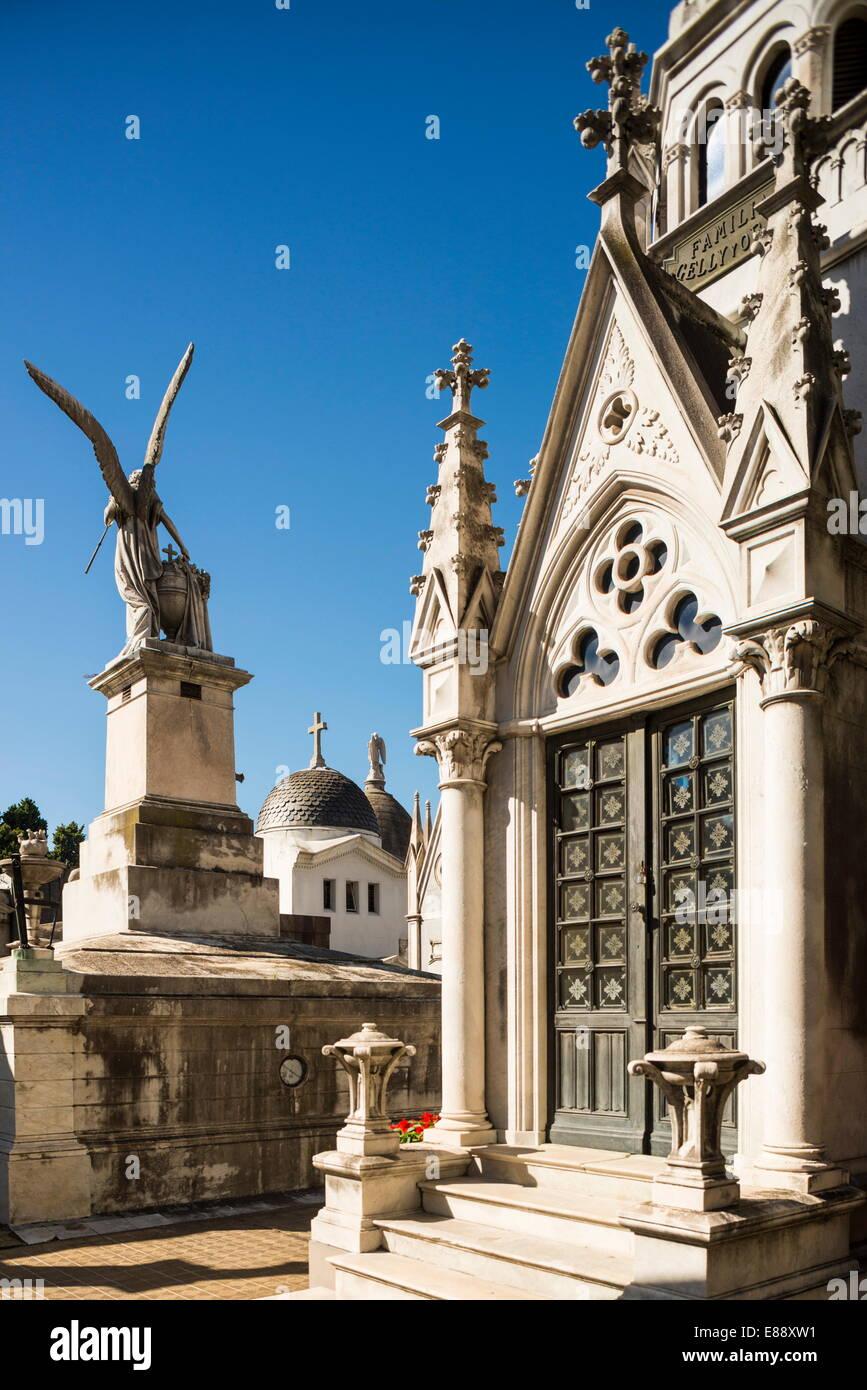 Cementerio de la Recoleta, Recoleta, Buenos Aires, Argentine, Amérique du Sud Photo Stock