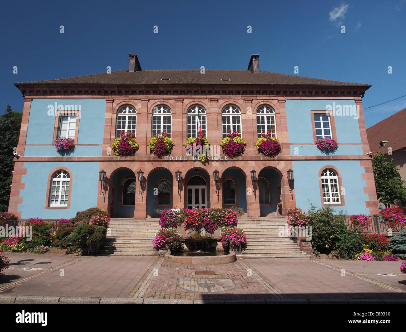Rue Mal de Lattre de Tassigny n° 114, Hôtel de Ville, pic1 Photo Stock