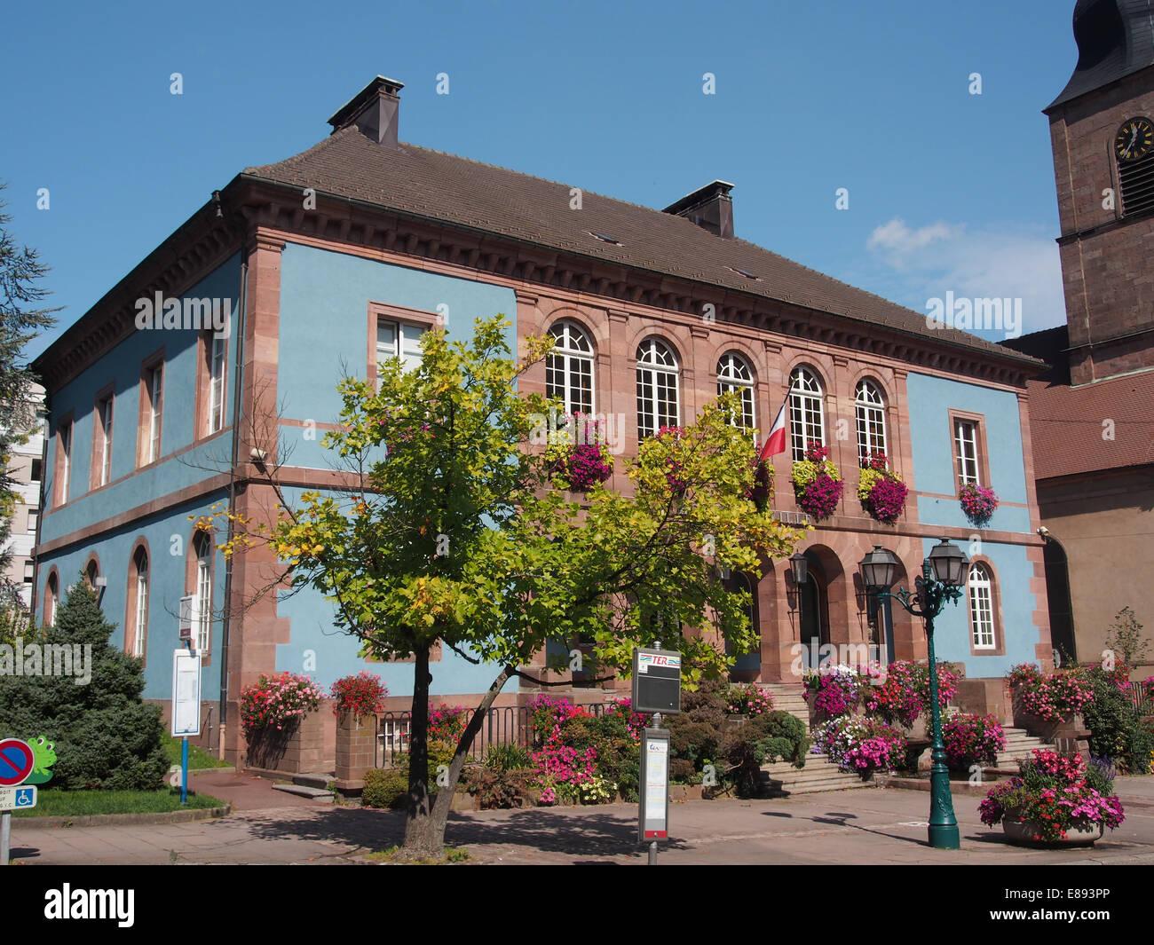 Rue Mal de Lattre de Tassigny n° 114, Hôtel de Ville, pic3 Photo Stock