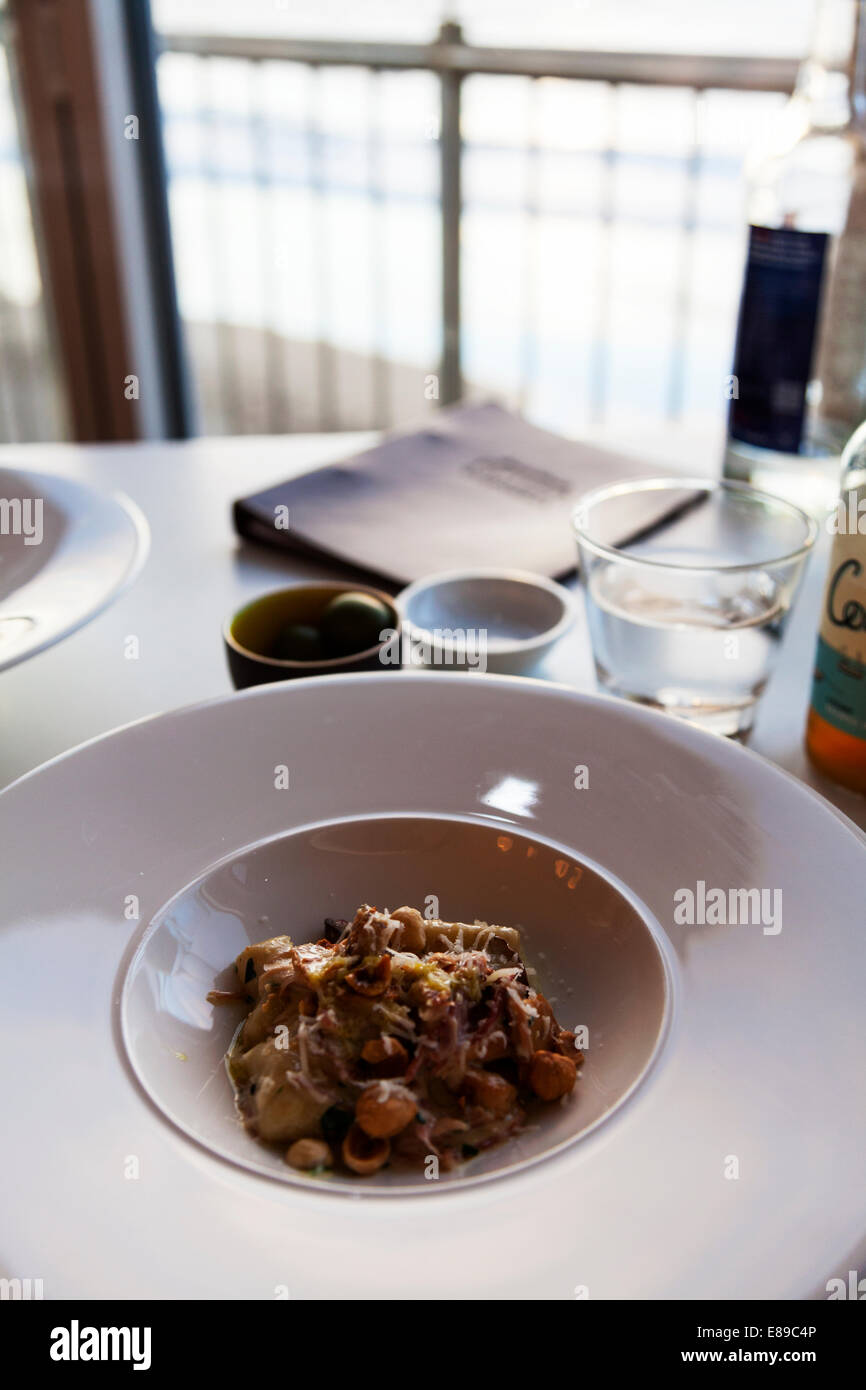 Le risotto aux champignons fromage Noisette 15 Jamie Oliver's Cornish Cornwall west country cuisine typique Photo Stock