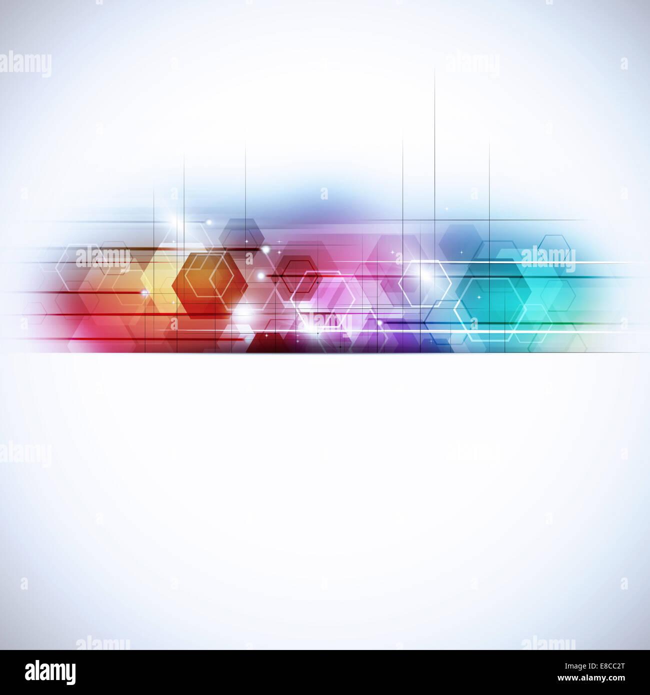 Technologie concept abstrait géométrique multicolore business background Photo Stock