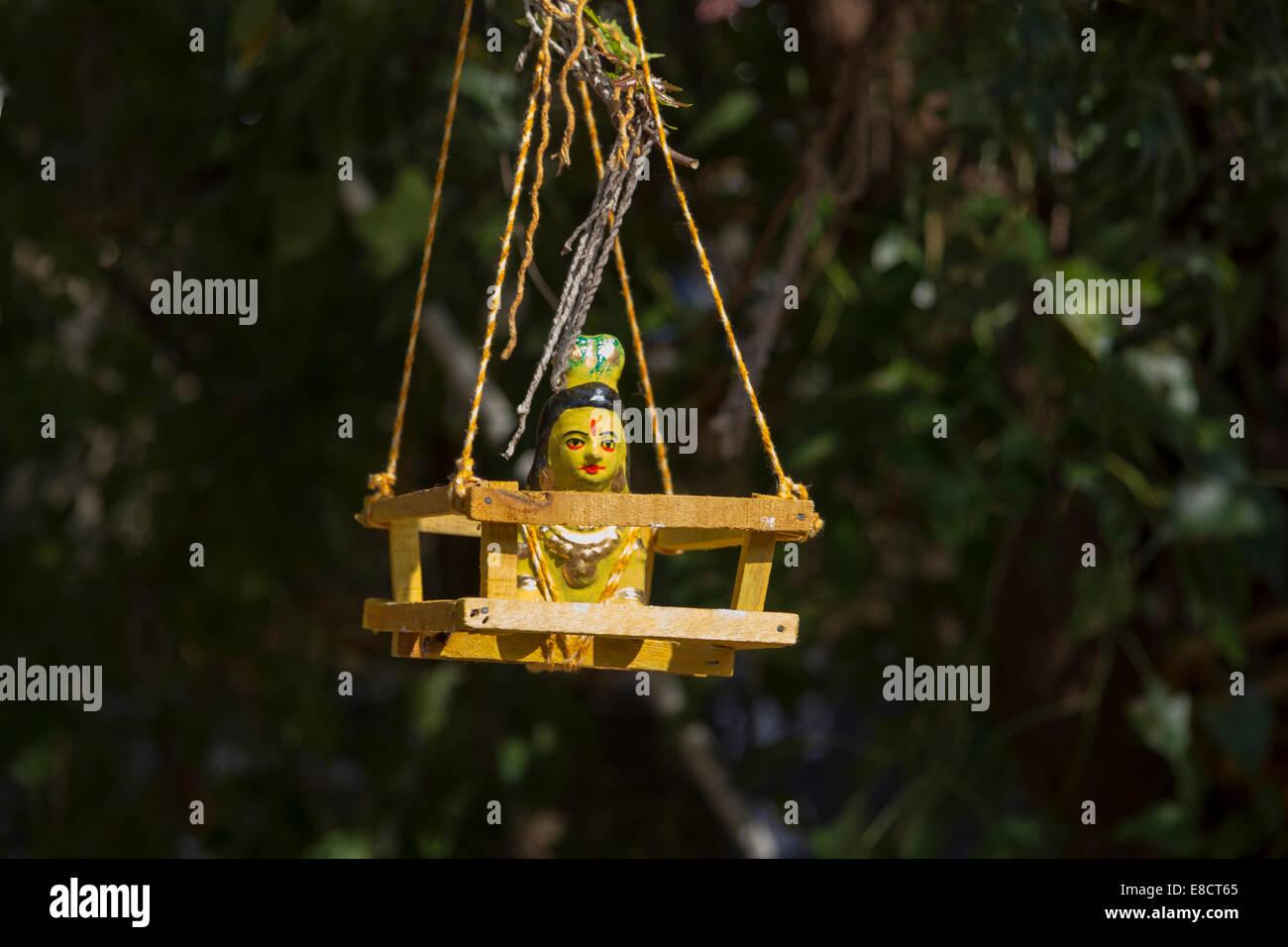 MEENAKSHI AMMAN TEMPLE MADURAI INDE UN CULTE À LA FERTILITÉ MODÈLE BÉBÉ FIGURANT DANS LE Photo Stock