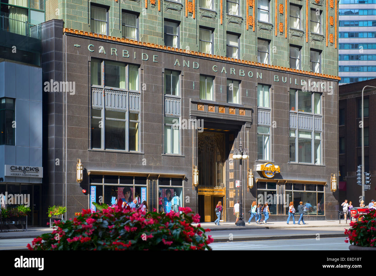 La construction de carbone et de carbure de Chicago Photo Stock
