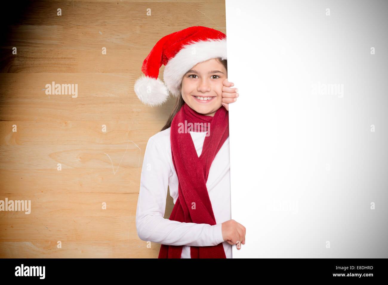 Image composite de petite fille de fête carte montrant Photo Stock d62e1d4c33a