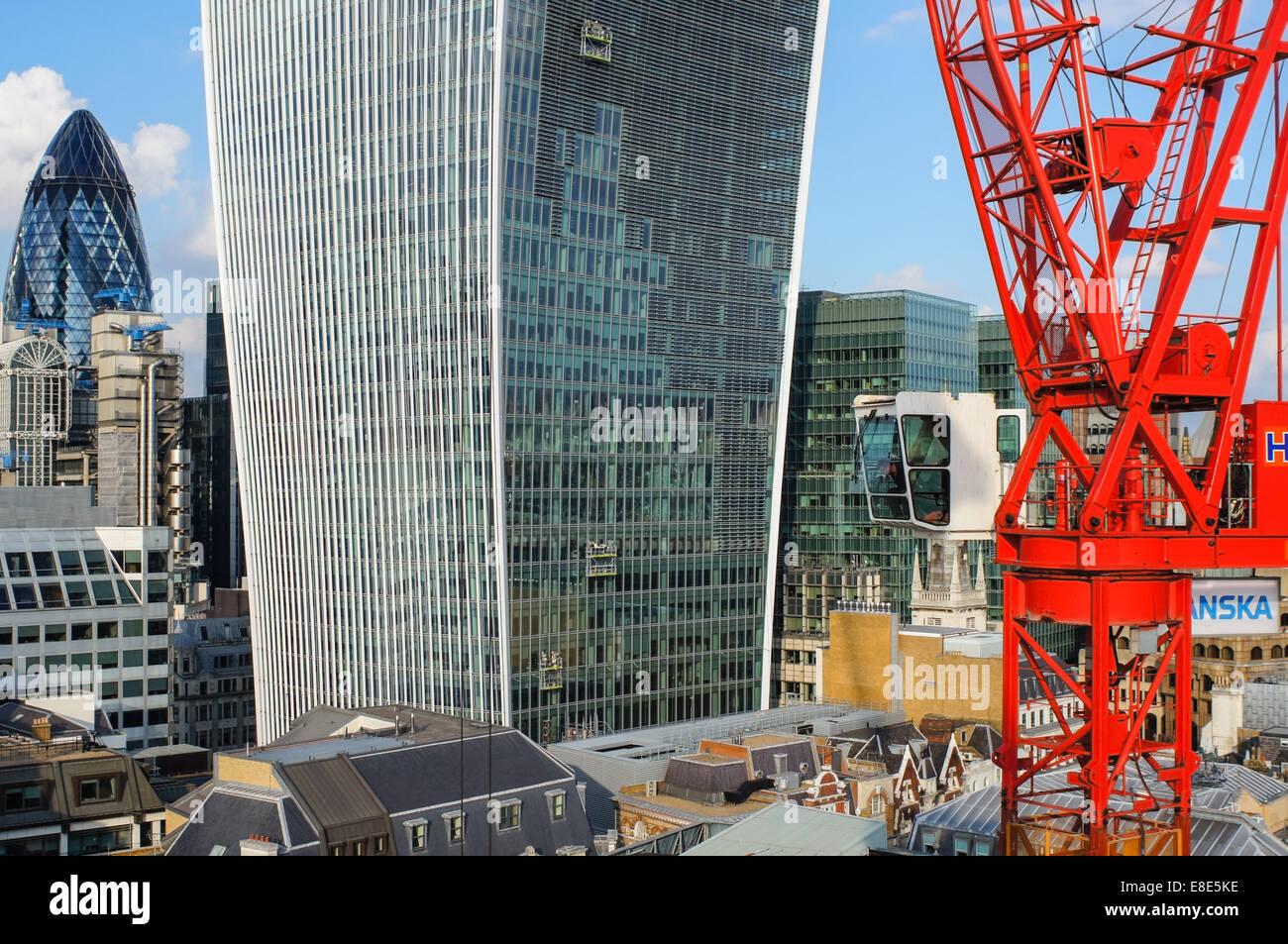 Vue de la ville depuis le sommet du monument Londres Angleterre Royaume-Uni UK Photo Stock