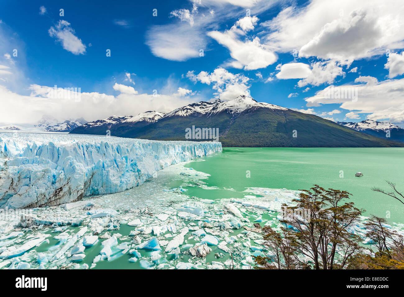 Le glacier Perito Moreno dans le Parc National Los Glaciares, en Argentine. Photo Stock