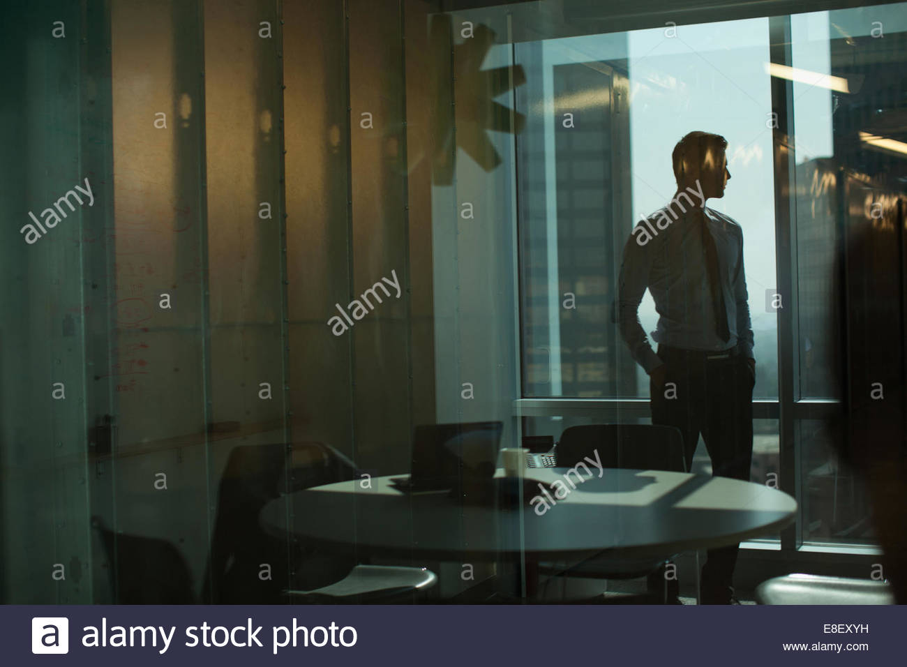 Businessman standing in office Photo Stock
