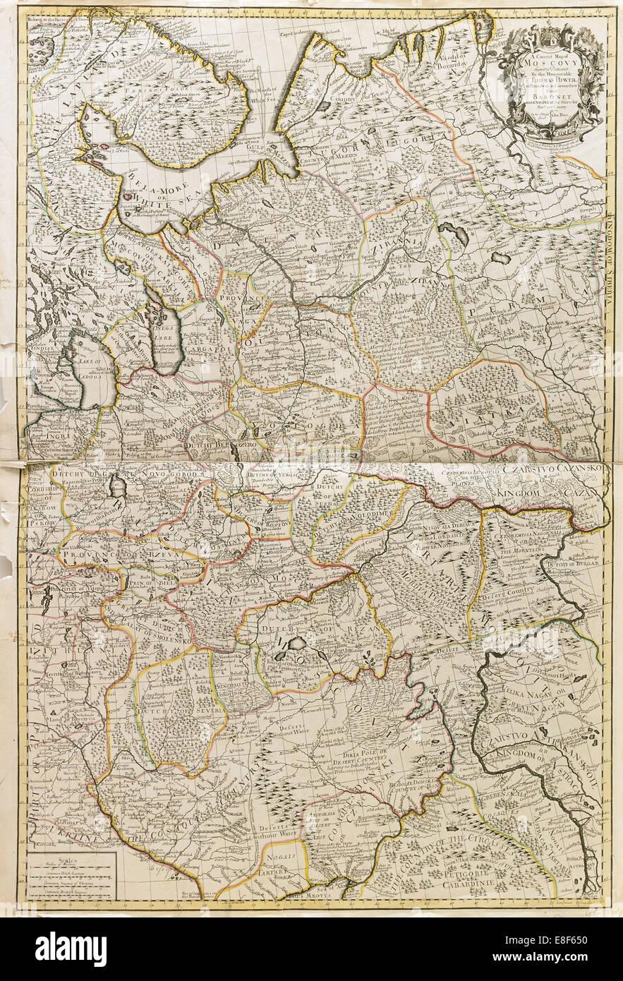 Plan de la Moscovie. Artiste: prix, Charles (actif début 18e cen.) Photo Stock