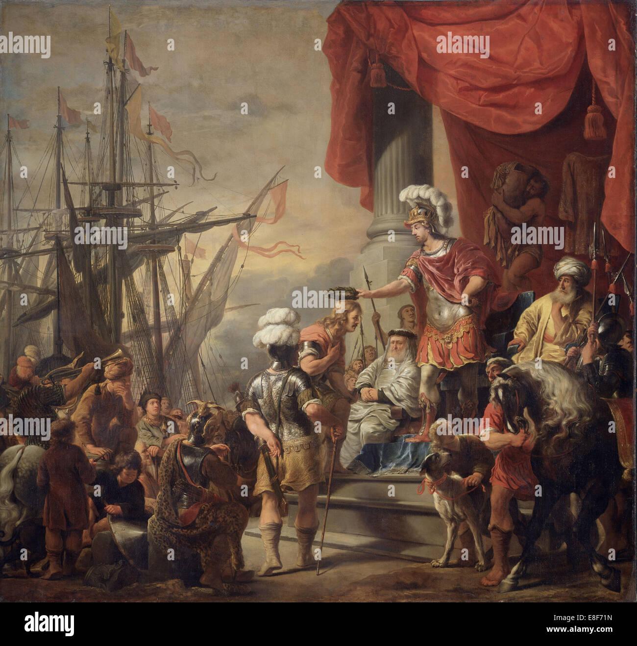 Énée à la Cour de Latinus. Artiste: Bol, Ferdinand (1616-1680) Photo Stock