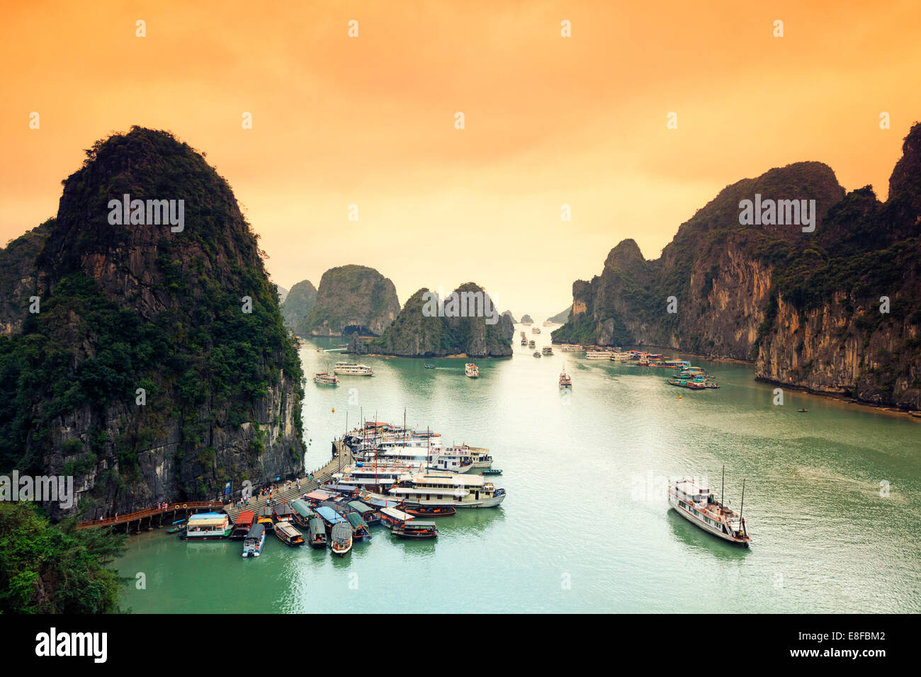 La baie d'Halong, Vietnam Photo Stock