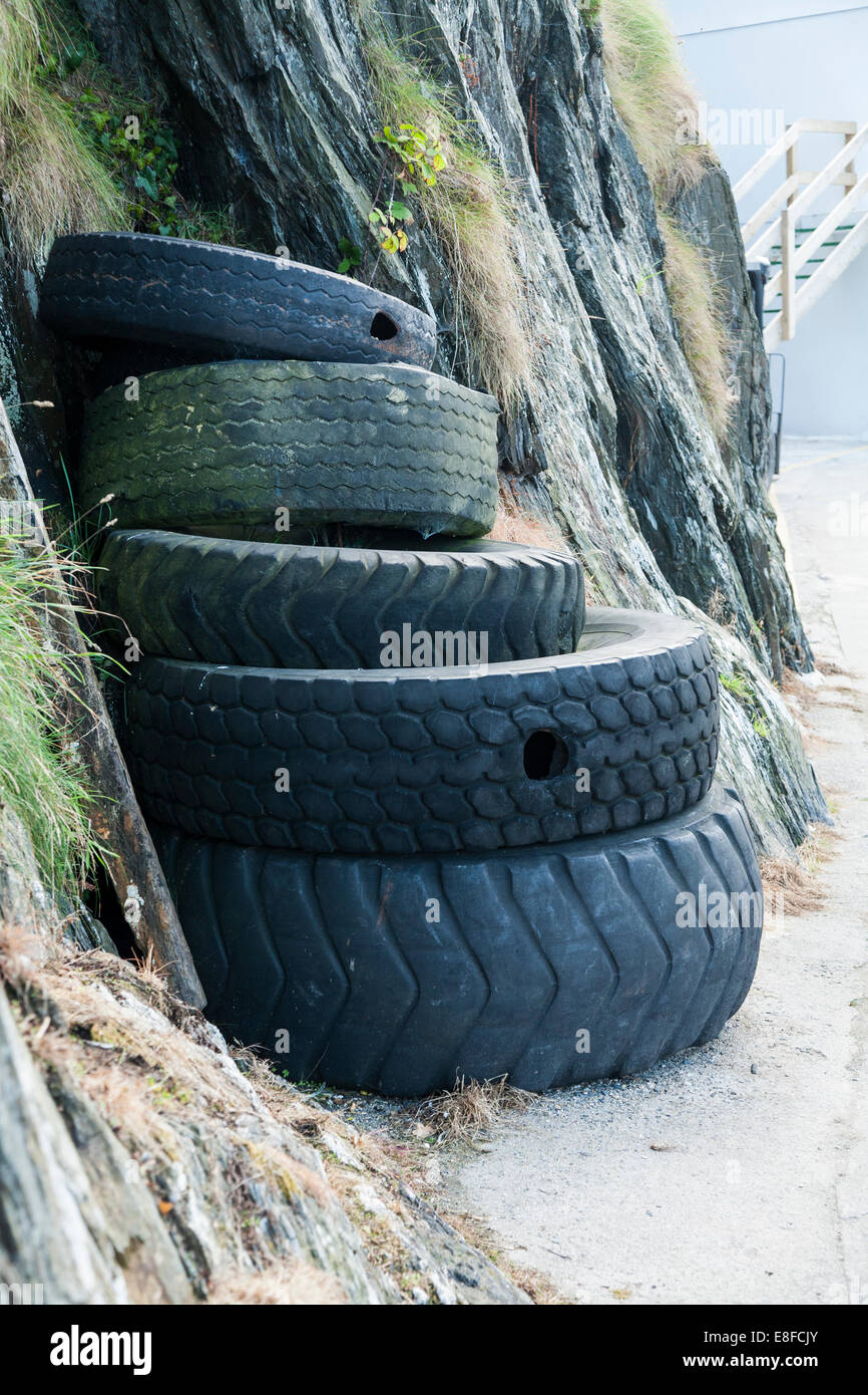 tyre barrier photos tyre barrier images alamy. Black Bedroom Furniture Sets. Home Design Ideas