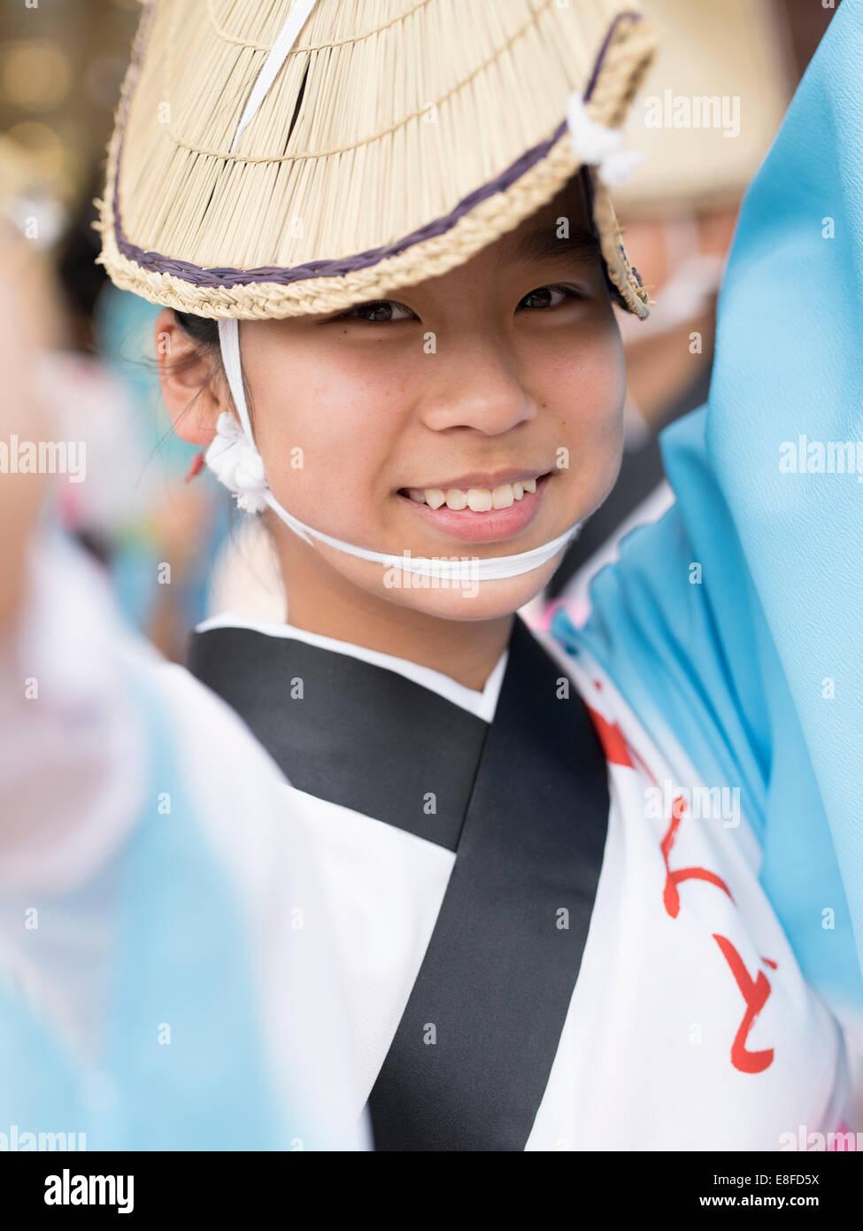 Awa Awa Odori ( Dance Festival ) a tenu 12 au 15 août dans la ville de Tokushima sur Shikoku, Japon Photo Stock