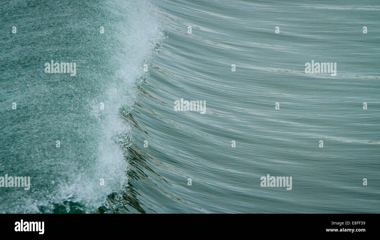 Crête de vague Photo Stock