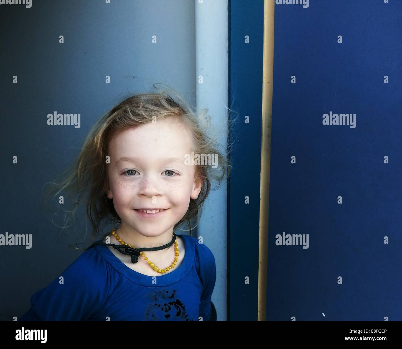 Portrait of a smiling girl Photo Stock