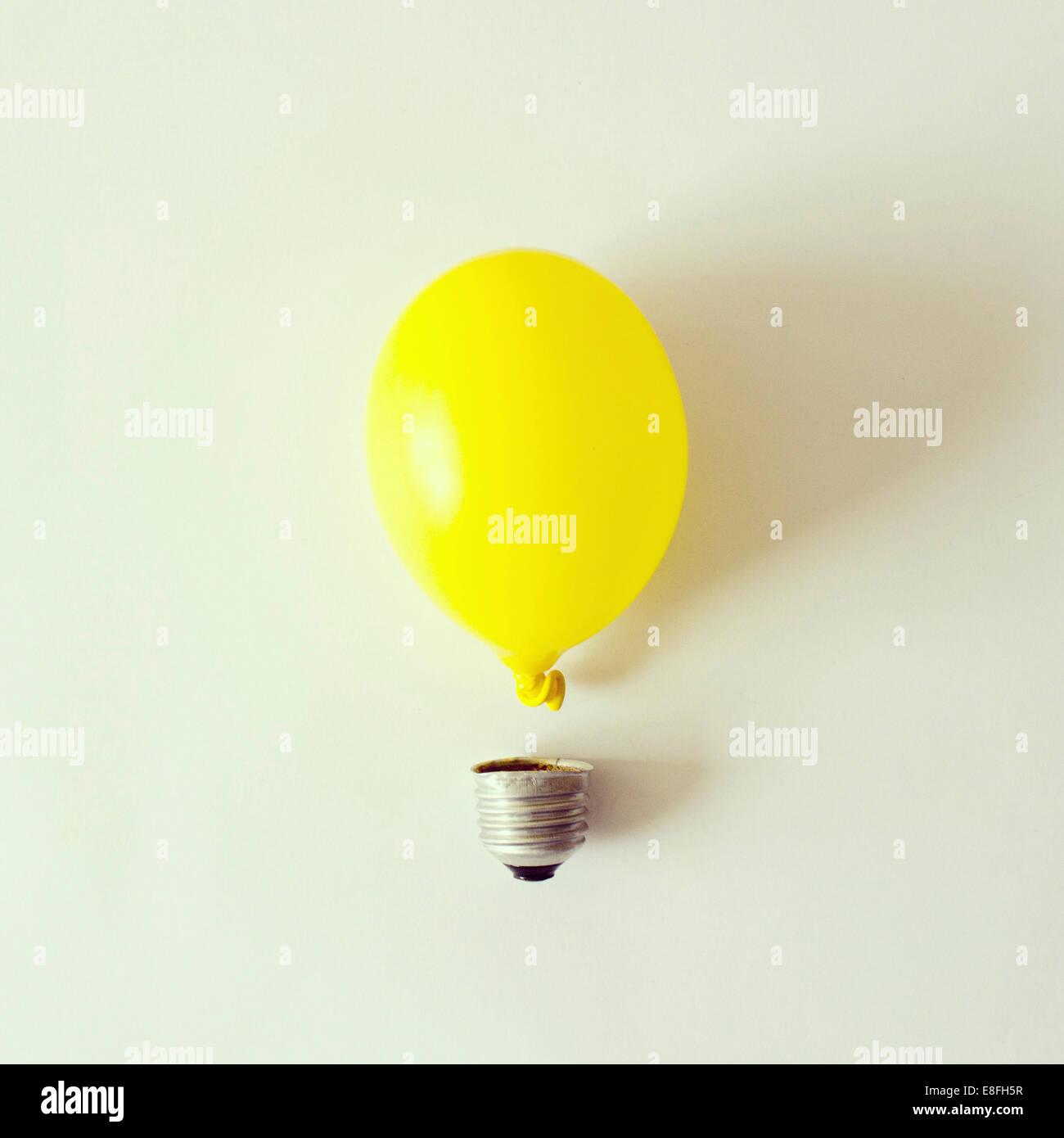 Studio shot of conceptual Light bulb Photo Stock