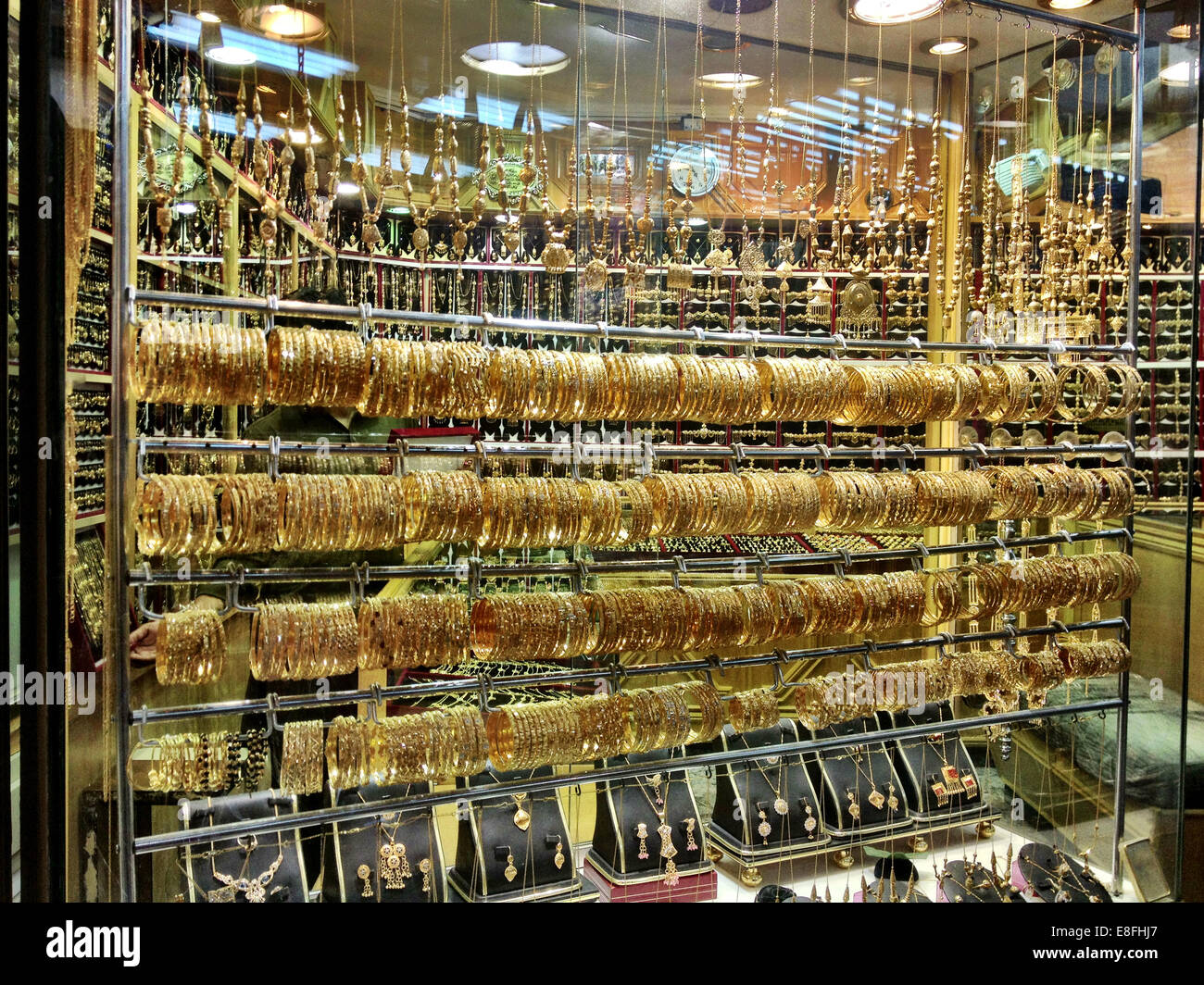 Oman, Muscat, magasin de bijoux Photo Stock