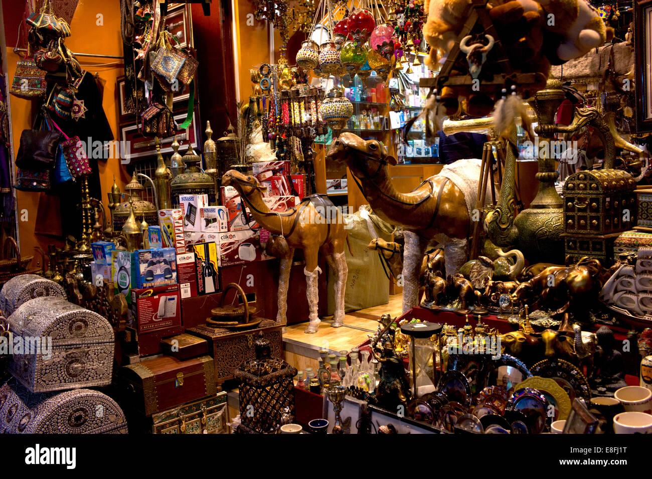 Oman, Muscat, bazar traditionnel souk Mutrah Photo Stock