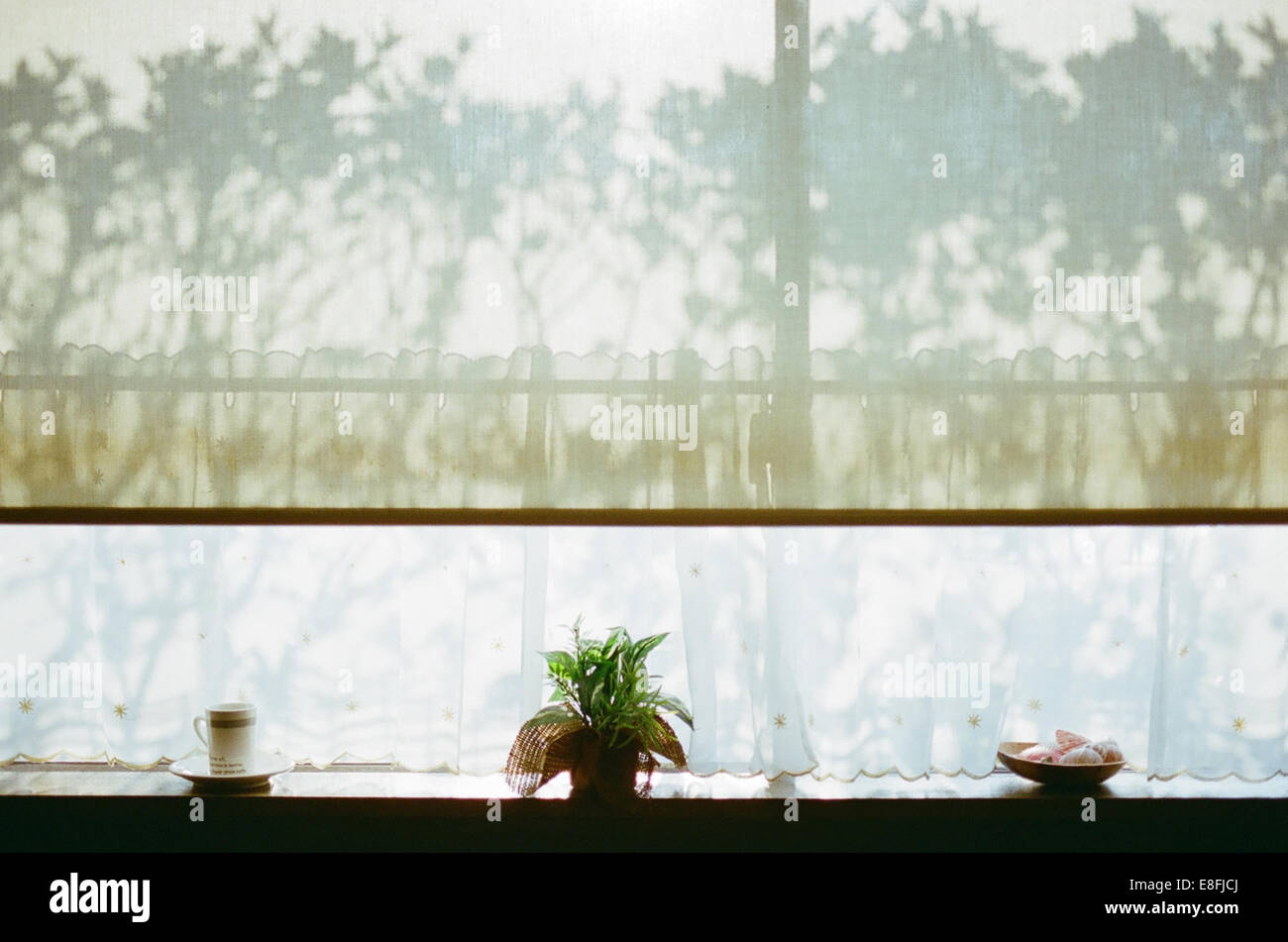 Appui de fenêtre et les ombres Photo Stock