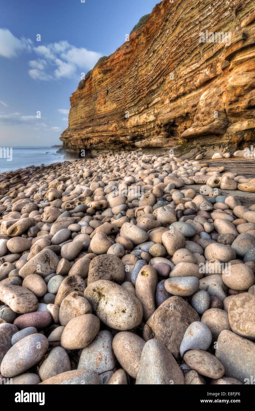 San Diego, Californie, États-Unis d'Amérique Shore de pierres Photo Stock
