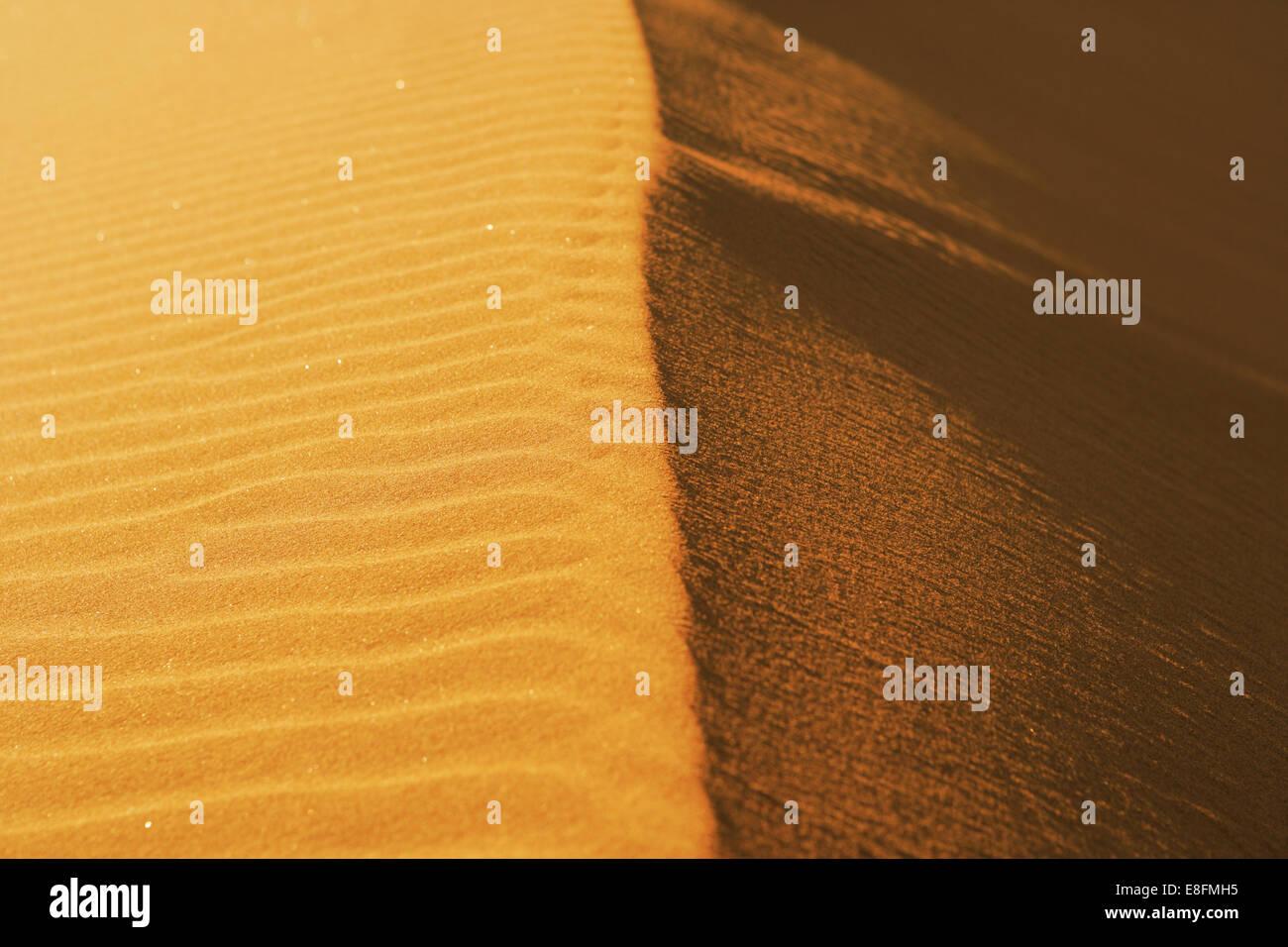 Crête de dune de sable, la Namibie Photo Stock