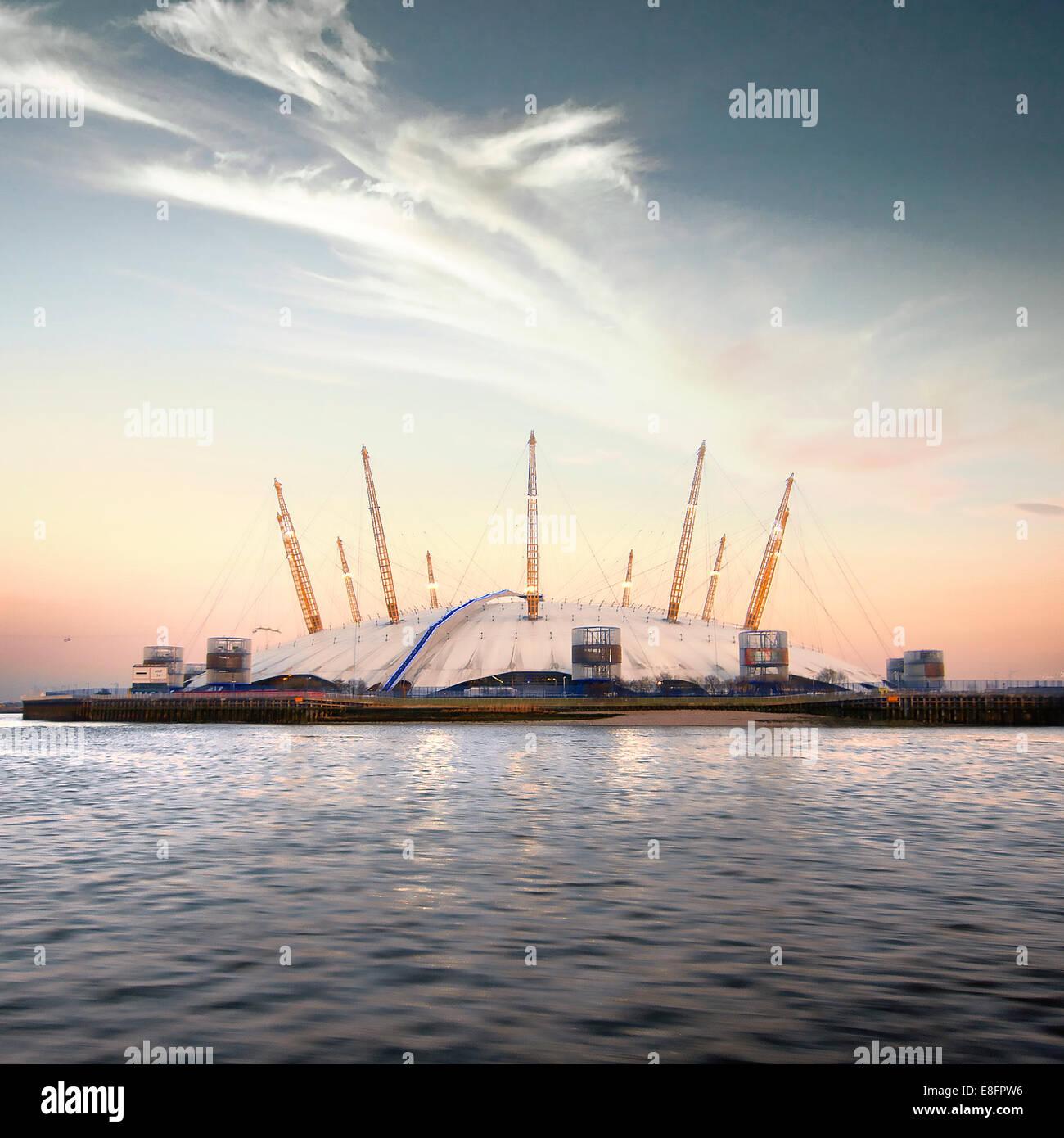 Royaume-uni, Londres, vue de l'O2 Arena Photo Stock