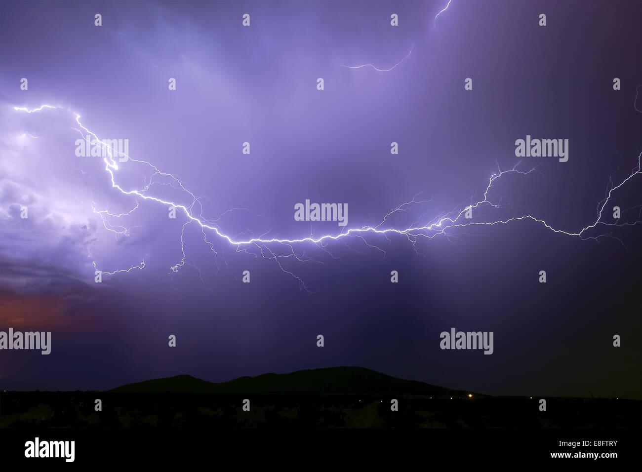 Tempête de mousson, Arlington, Arizona, États-Unis d'Amérique Photo Stock