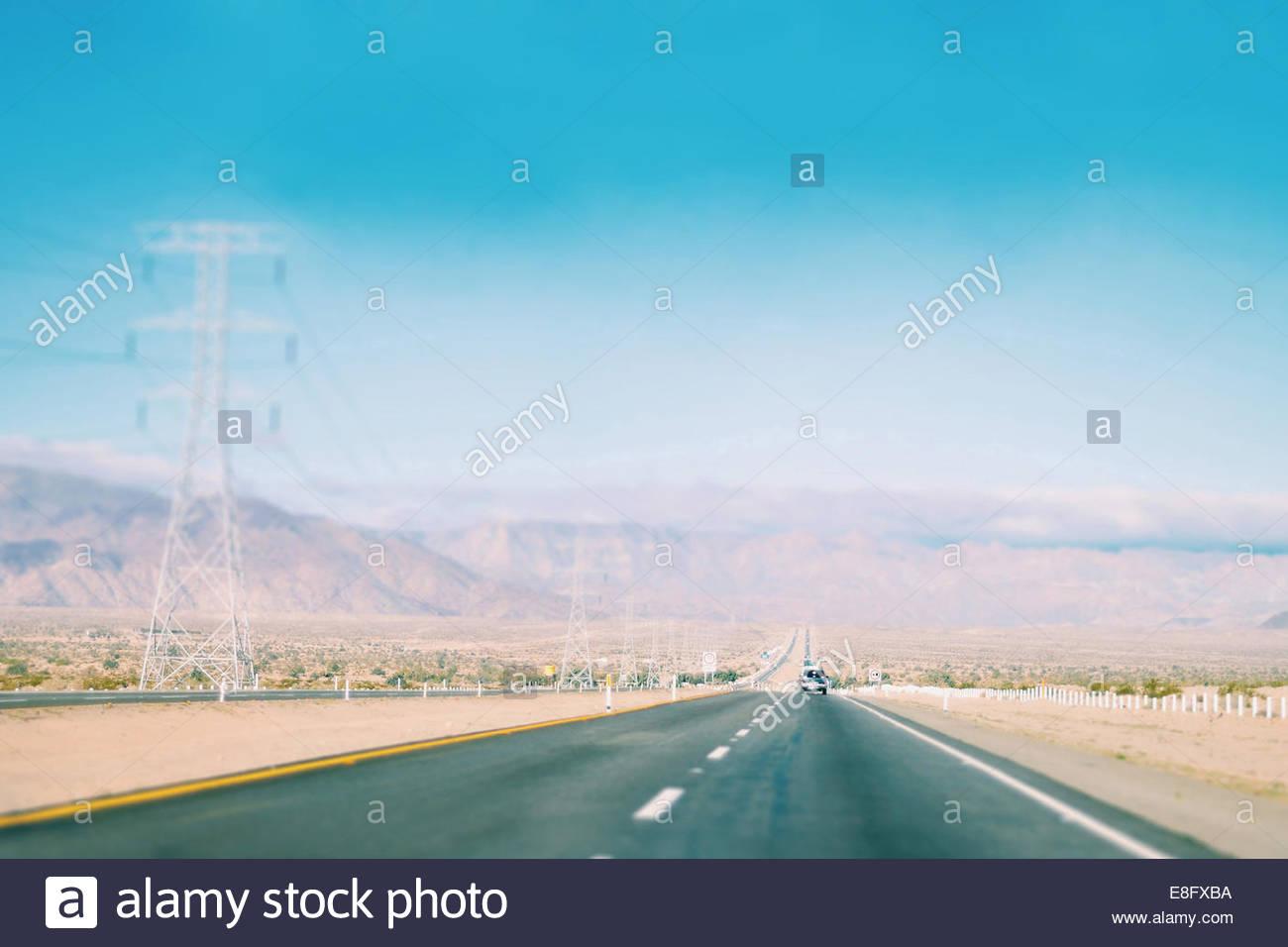 Mexique, Baja California, Tecate, Road Trip Photo Stock