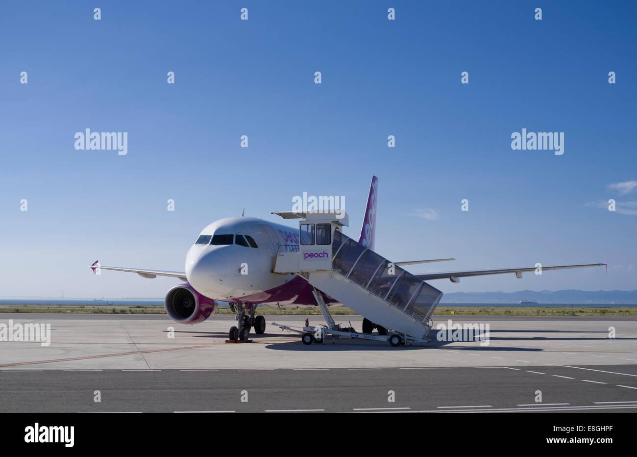 Peach Aviation, compagnie aérienne low cost carrier japonais basé à Osaka, Japon Photo Stock