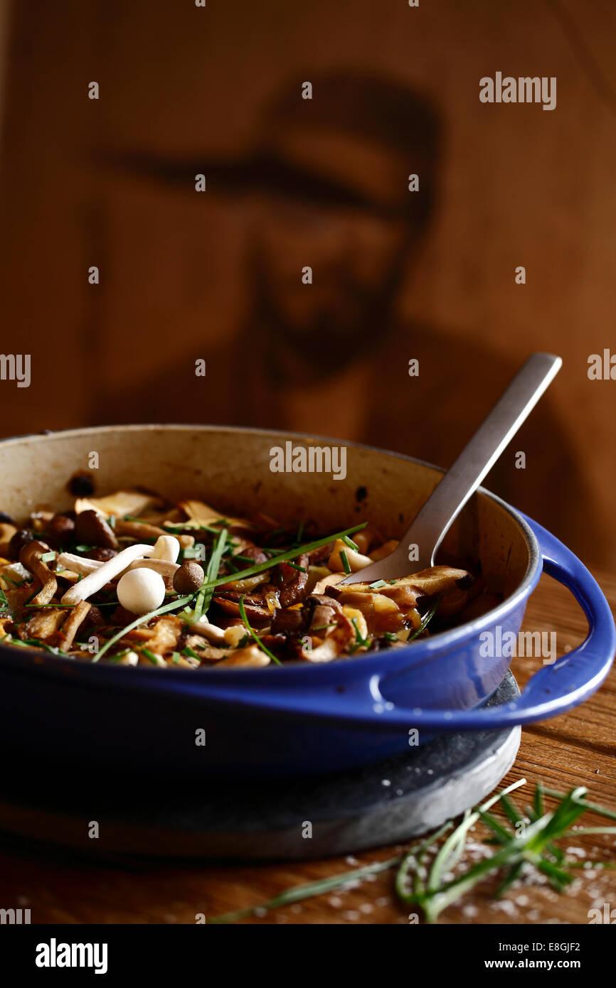 Ragoût de champignons avec des Photo Stock