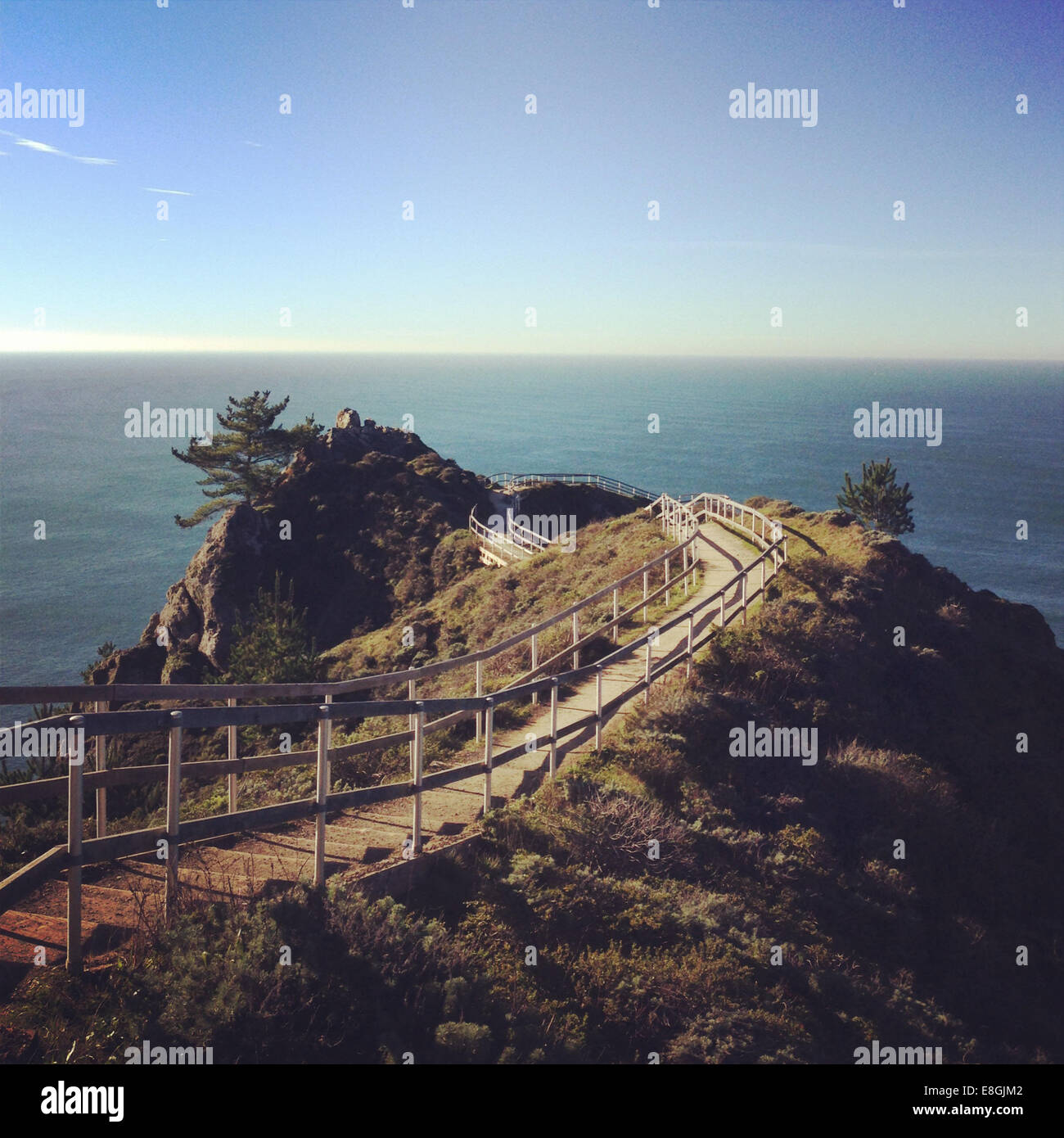 États-unis, Californie, Marin, Muir Beach, Muir Beach donnent sur Photo Stock
