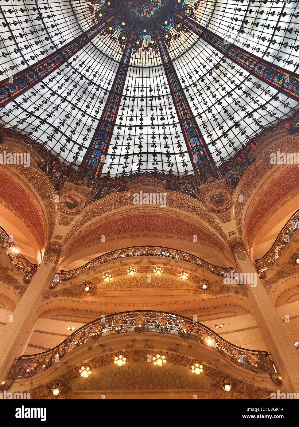France, Paris, Galeries Lafayette Photo Stock