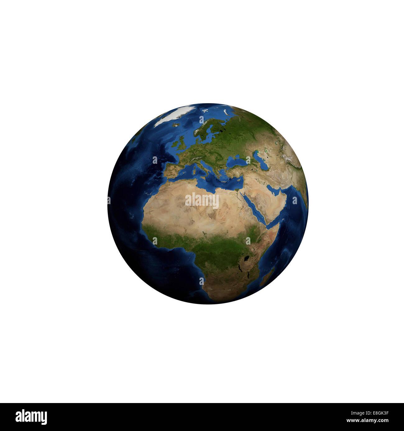 Image générée numériquement de la planète terre Banque D'Images
