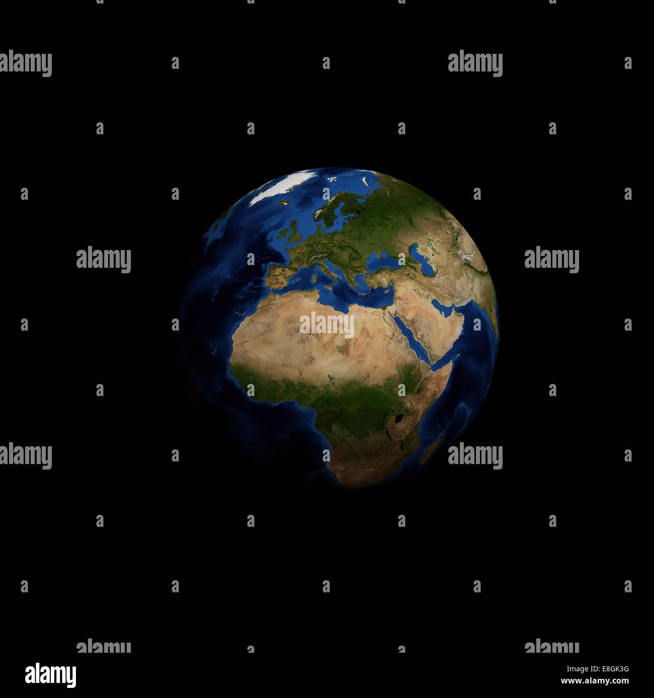 Image générée numériquement de la planète terre Photo Stock