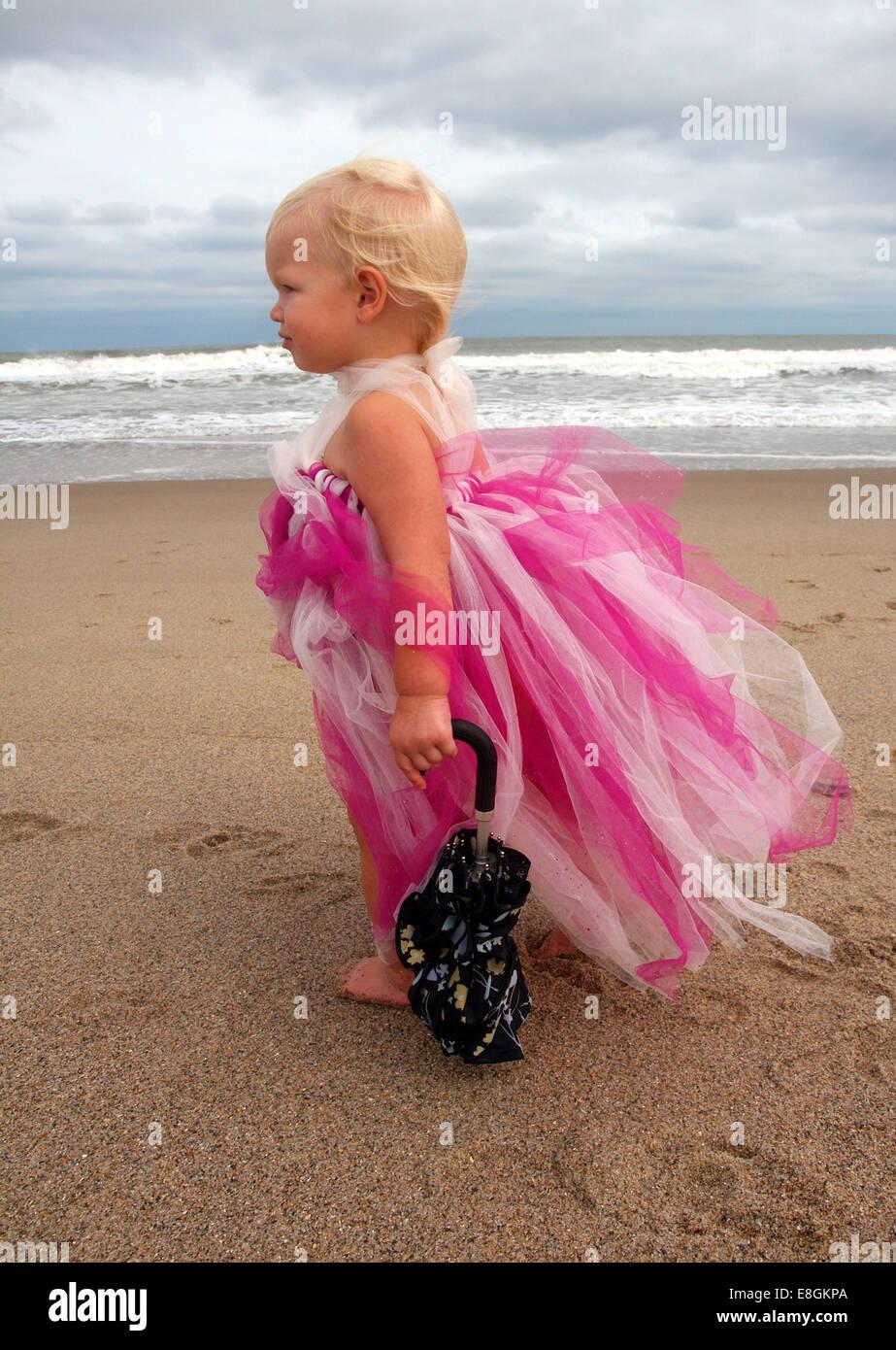 Kure Beach, New Hanover County, North Carolina, United States of America prêt pour la tempête Photo Stock