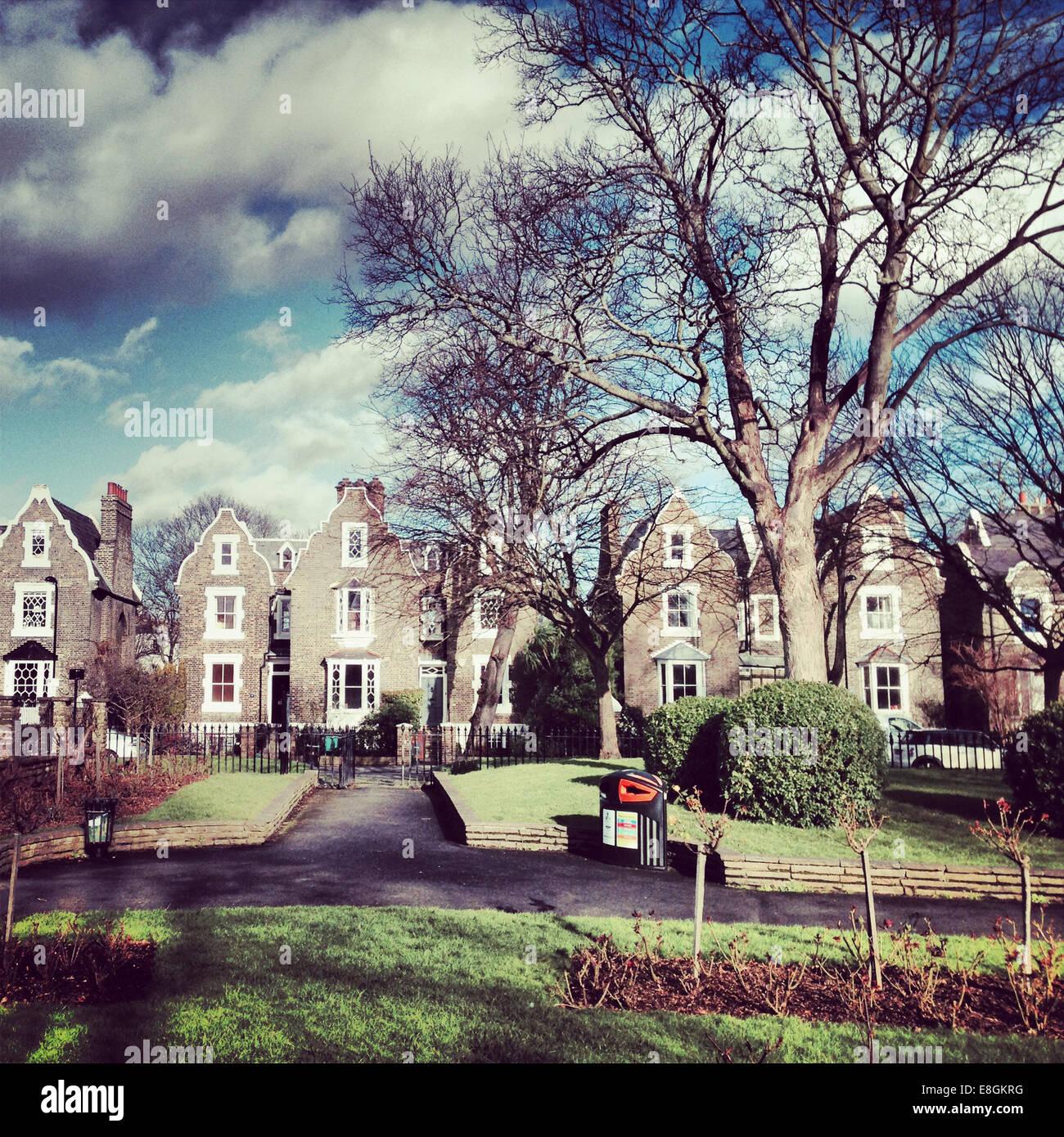 UK, Londres, quartier de Hackney, Ville De Beauvoir et d'Islington, Maisons du Parc Photo Stock