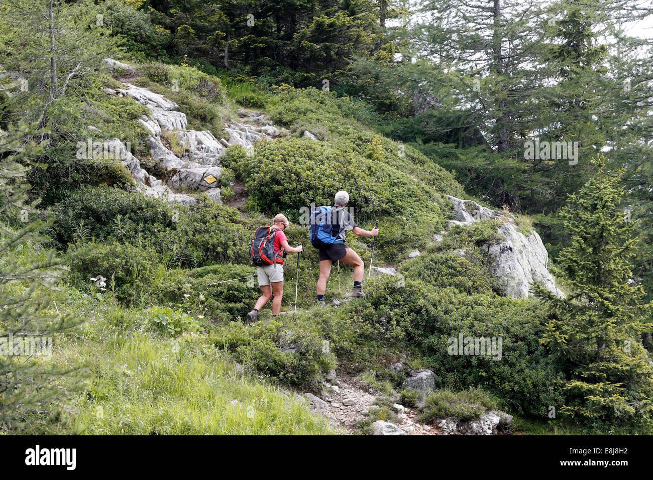 Randonnée de montagne. Photo Stock