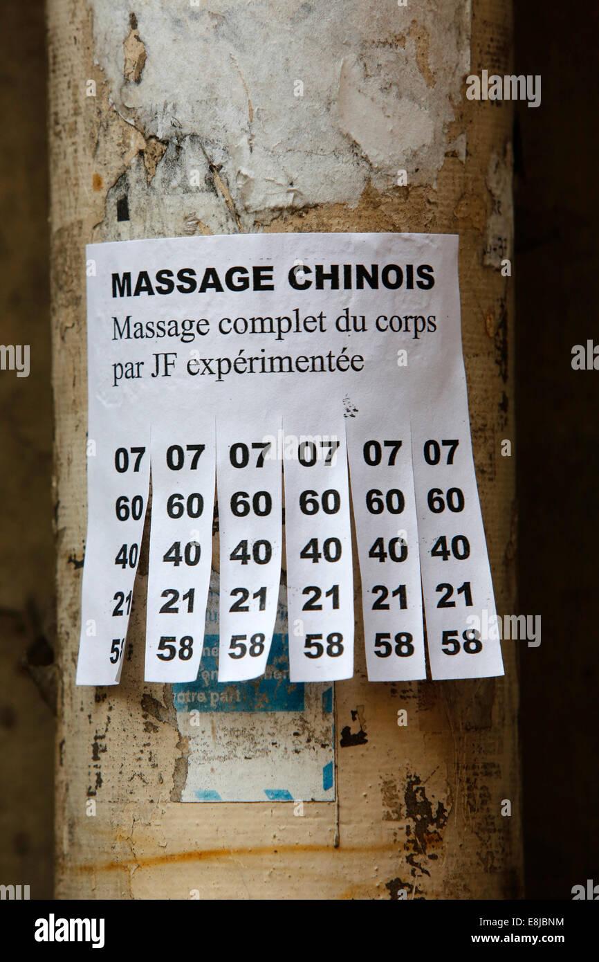 Massage annonce