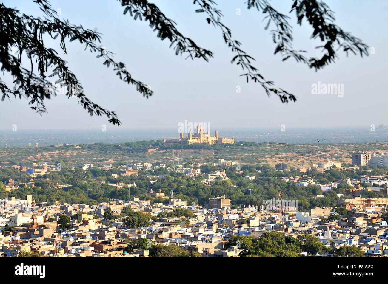 Jodhpur la ville bleue. Banque D'Images