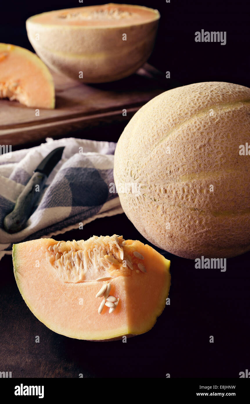 Melon Canteloupe Photo Stock