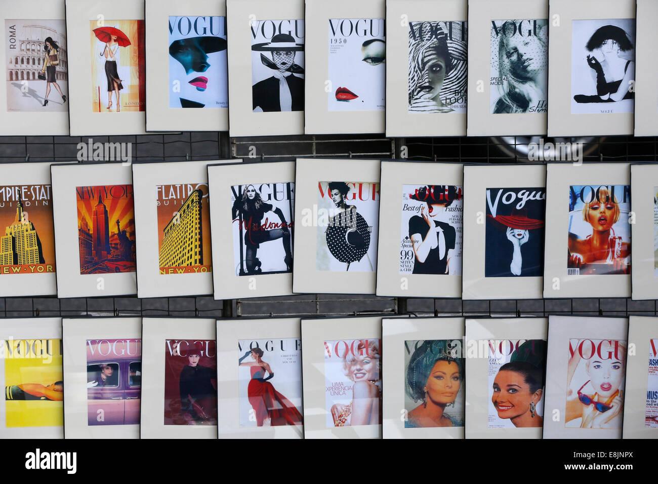 Magazine vogue. Photo Stock