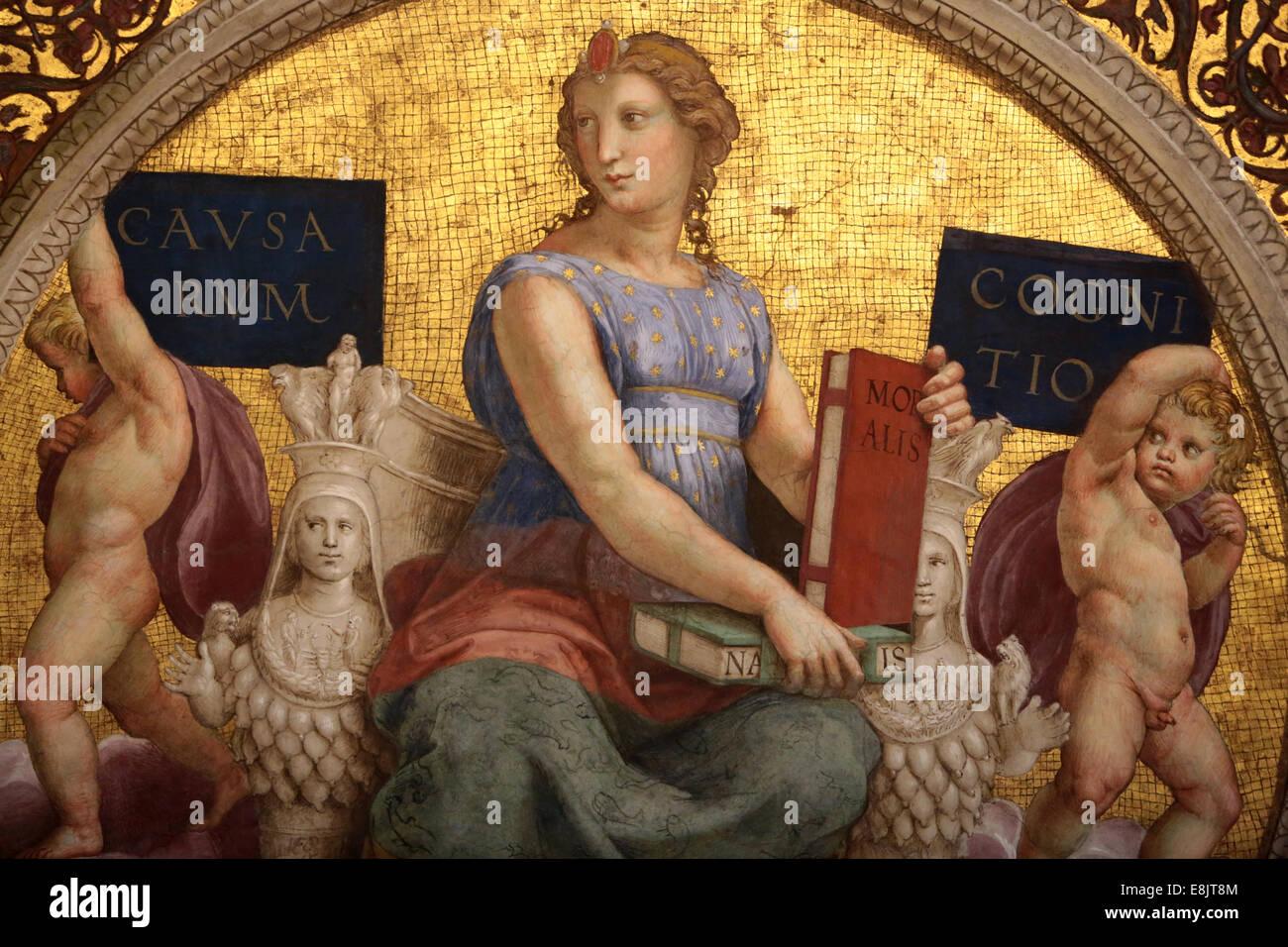 La connaissance des causes. Musée du Vatican. Photo Stock