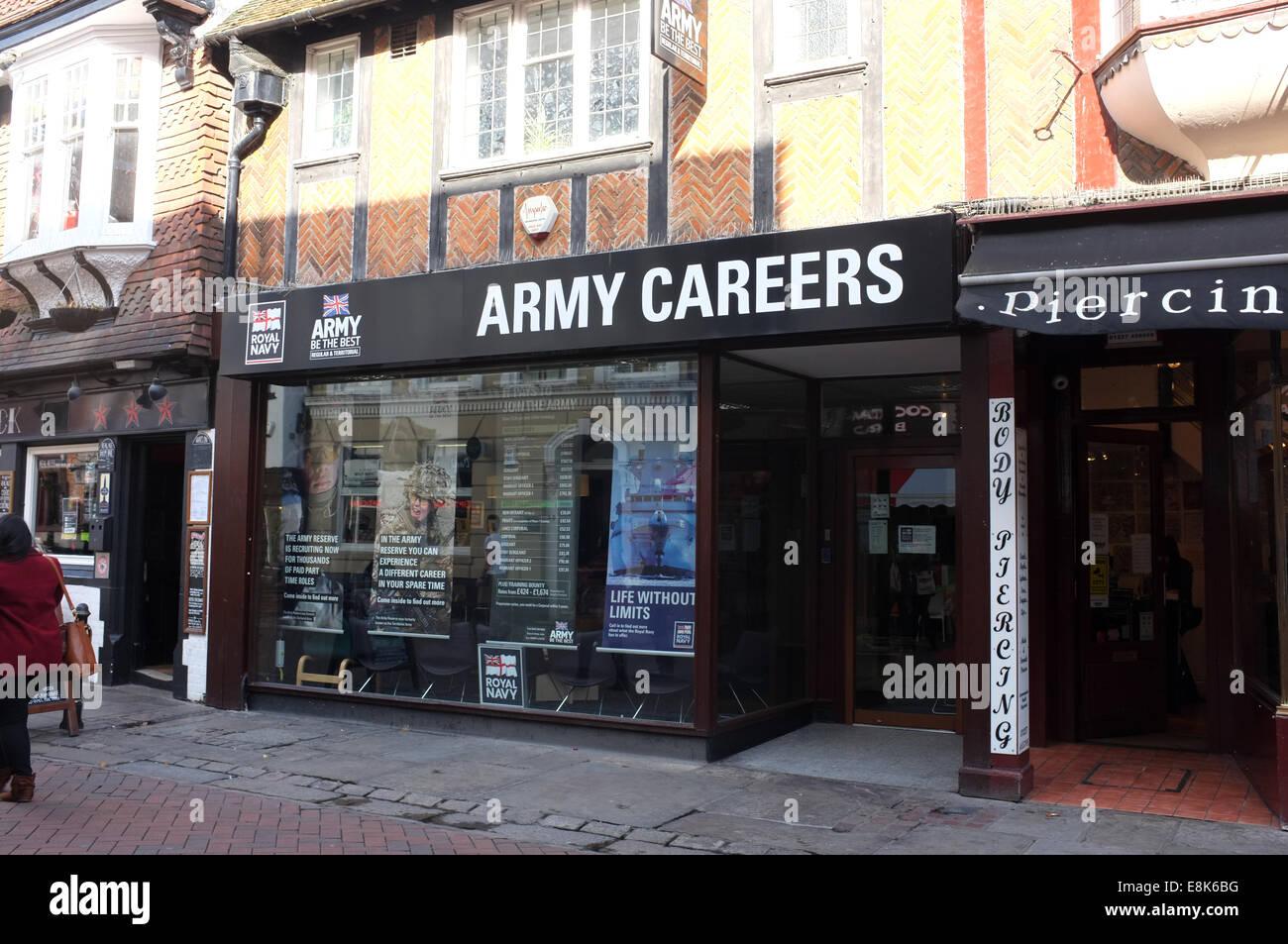 Immeuble de bureaux de recrutement carrières de l armée dans la