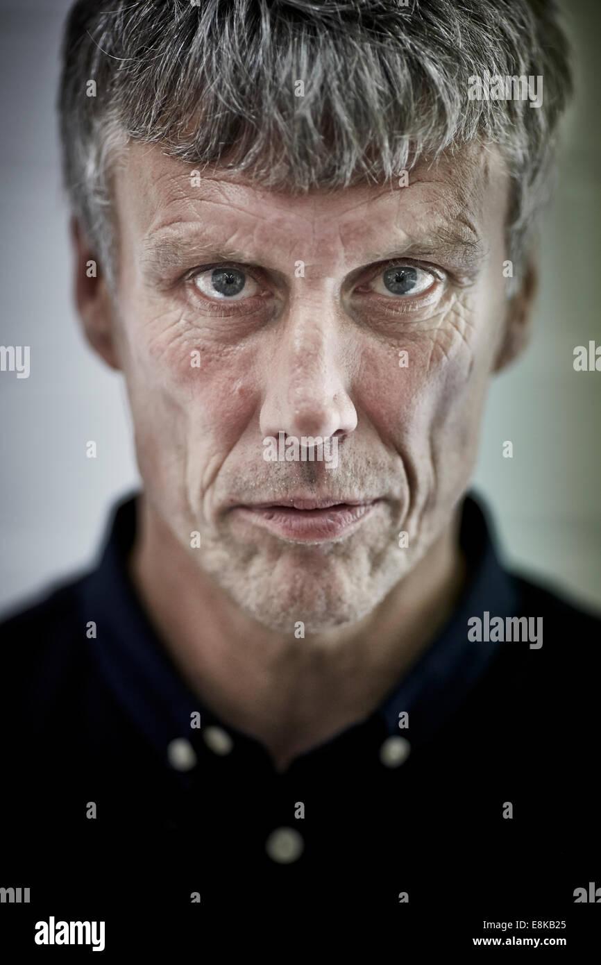 Happy Mondays danseur Bez (Mark Berry) a sa tête 3D scannés pour un projet qui fait partie de Manchester Photo Stock
